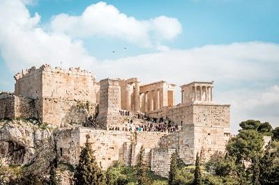 Die Akropolis von Athen, das Wahrzeichen der Stadt