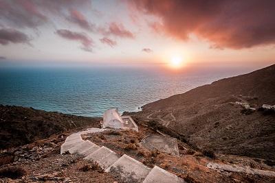 Ein friedlicher Sonnenuntergang in Griechenland